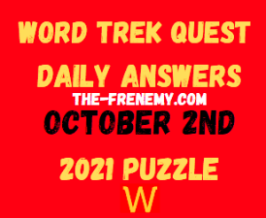 Word Trek Quest Daily Puzzle October 2 2021 Answers