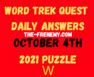 Word Trek Quest Daily Puzzle October 4 2021 Answers