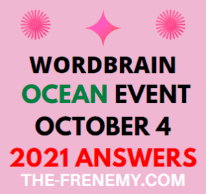 WordBrain Ocean Event October 4 2021 Answers Puzzle