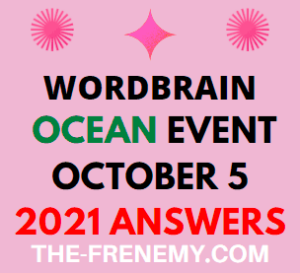 WordBrain Ocean Event October 5 2021 Answers Puzzle