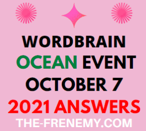 WordBrain Ocean Event October 7 2021 Answers Puzzle