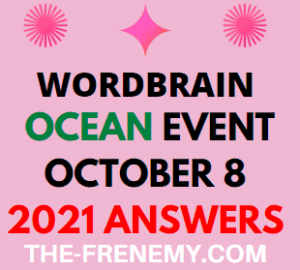 WordBrain Ocean Event October 8 2021 Answers Puzzle