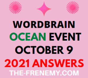 WordBrain Ocean Event October 9 2021 Answers Puzzle