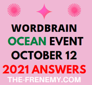 Wordbrain Ocean Event October 12 2021 Answers Puzzle