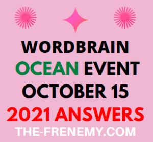 Wordbrain Ocean Event October 15 2021 Answers Puzzle