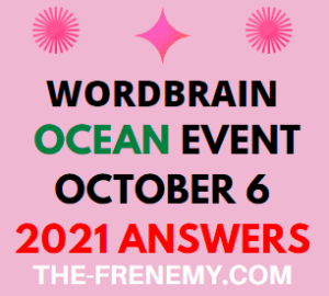 Wordbrain Ocean Event October 6 2021 Answers Puzzle